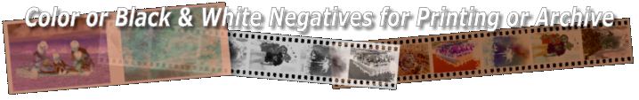 Negatives from Digital files